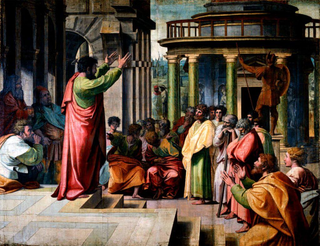 Pablo predicando en Atenas