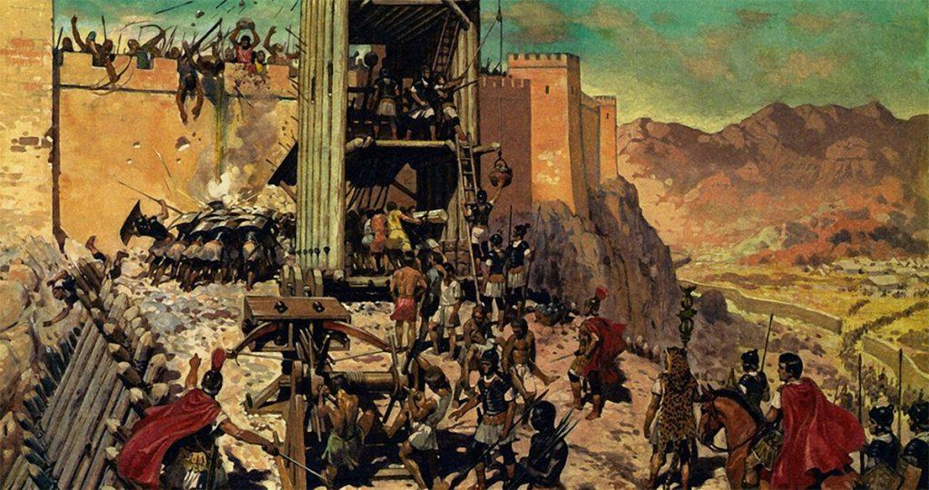 Rampa de asedio construida por los romanos en Masada.